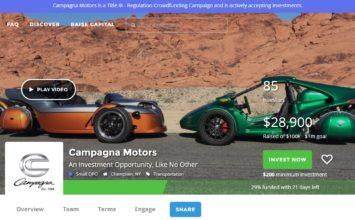 Campagna Motors: le fabricant du T-Rex à la recherche de capitaux (Vidéo)