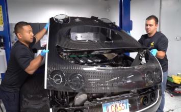 Entretien annuel de la Bugatti Veyron: 20 000$US! (Vidéo)