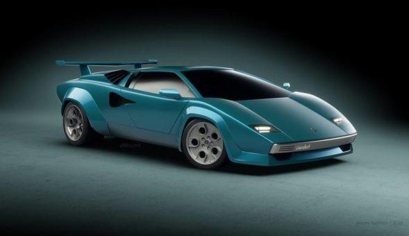 Ce rendu modernisé de la Lamborghini Countach est tout simplement malade