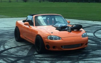 A Hellcat-powered Miata is heading to auction