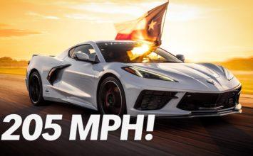 Une Corvette C8 atteint 330 km/h (Vidéo)
